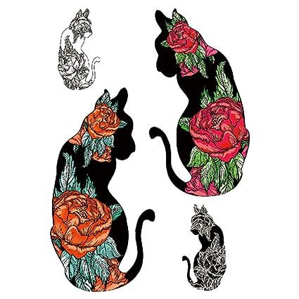 3Pcs-Flower Arm Tattoo Sticker Waterproof Tattoo Sticker Fox Owl ...