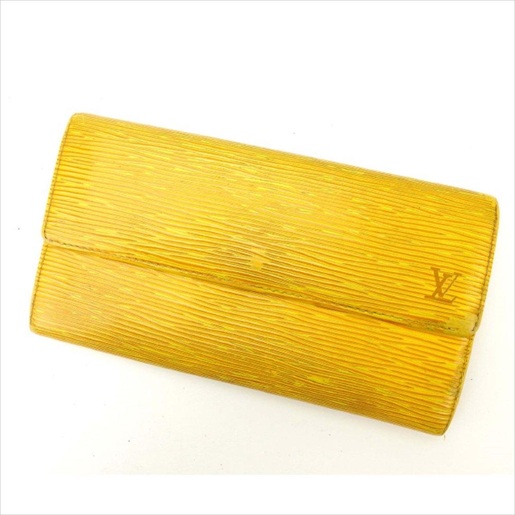ルイヴィトン Louis Vuitton 長財布 ファスナー二つ折り ユニセックス ポシェットポルトモネクレディ M63579 エピ 中古 C1669   B018JMSBVK