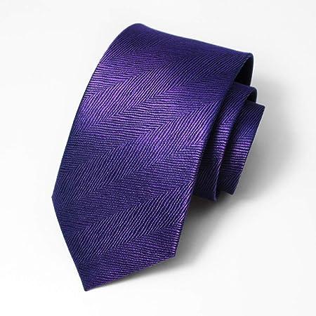 GuanBen Corbata para Hombre y Clip para Corbata, Violet Silk Wide ...