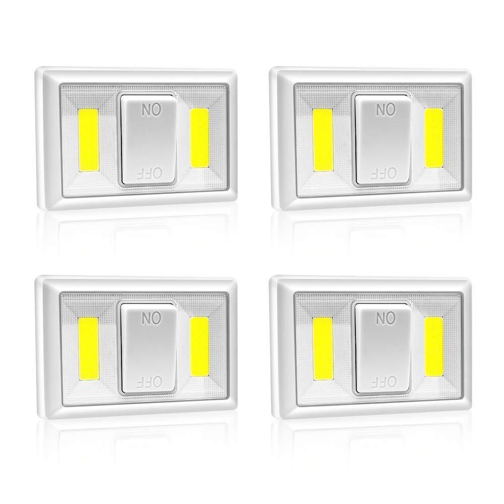 Bianco,200LM 803 4 Pezzi Luce notturna LED Luce notturna bambini Lampada notturna per bambini Lampada da notte Lampada Wireless da Parete