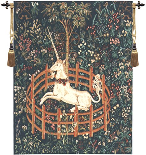 Unicorn In Captivity II Belgian Tapestry for sale  Delivered anywhere in USA