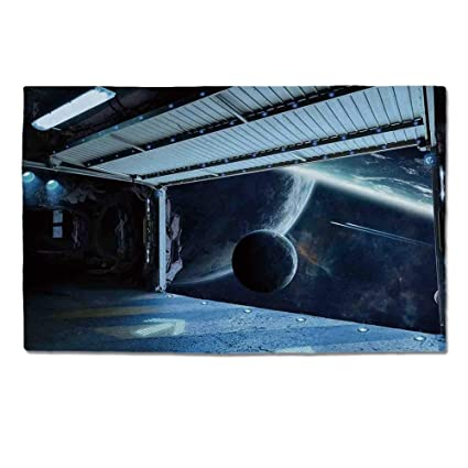 Amazon.com: YOLIYANA Outer Space Decor Durable Door Mat,Moon ...