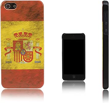Xcessor Vintage Funda Carcasa Bandera de España Para Apple iPhone SE / 5S / 5. Diseño Delgado y Liviano. España: Amazon.es: Electrónica