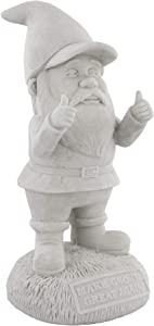 "Gnometastic Gnude Gnomes - Unpainted Make Gnomes Great Again Garden Gnome Statue, 9.5"" / DIY Paint Your Own Gnome"