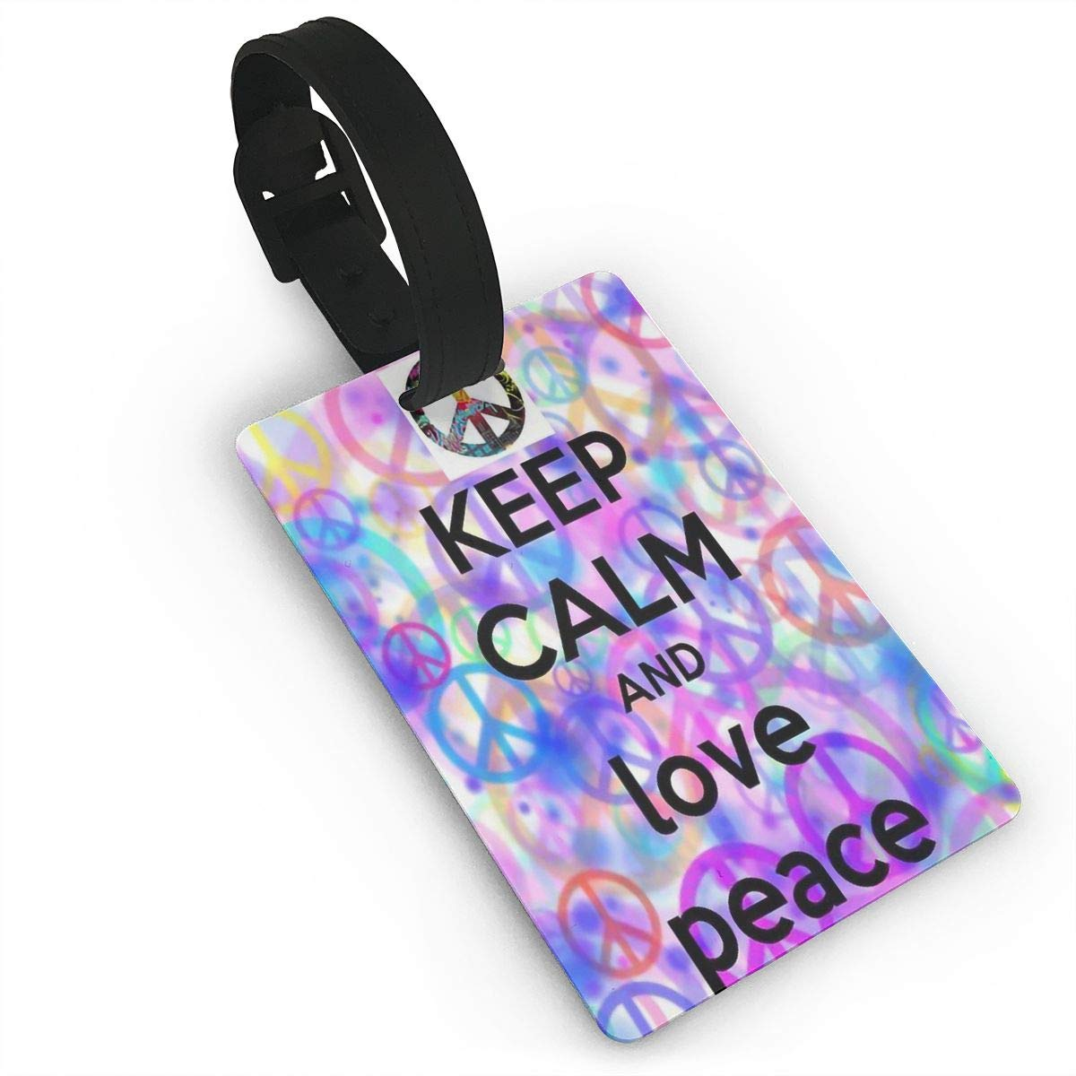 2 Pack Luggage Tags Peace Handbag Tag For Suitcase Bag Accessories