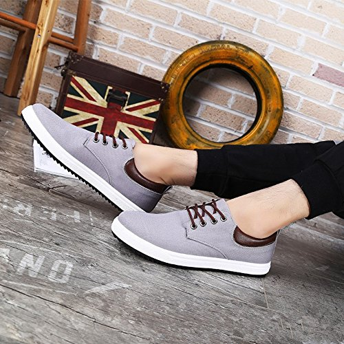 Otro Summer Hombres Classic Style Lace Up Canvas Zapatos Gris