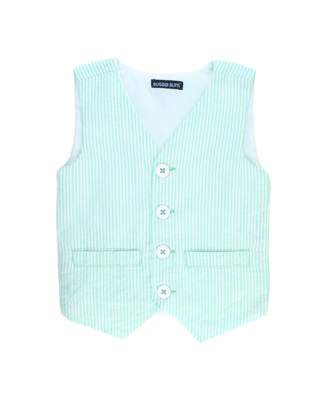 RuggedButts Baby//Toddler Boys Lightweight Seersucker Vest BVWYYXX-0000-SC-BABY