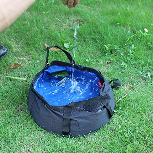 DEESEE(TM) 8.5L Portable Collapsible Outdoor Wash Camping ...