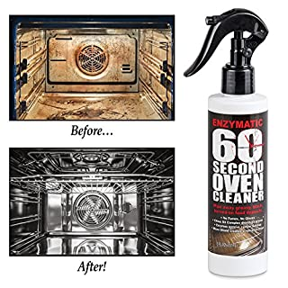 Enzymatic 60 Second Oven Cleaner - before and after