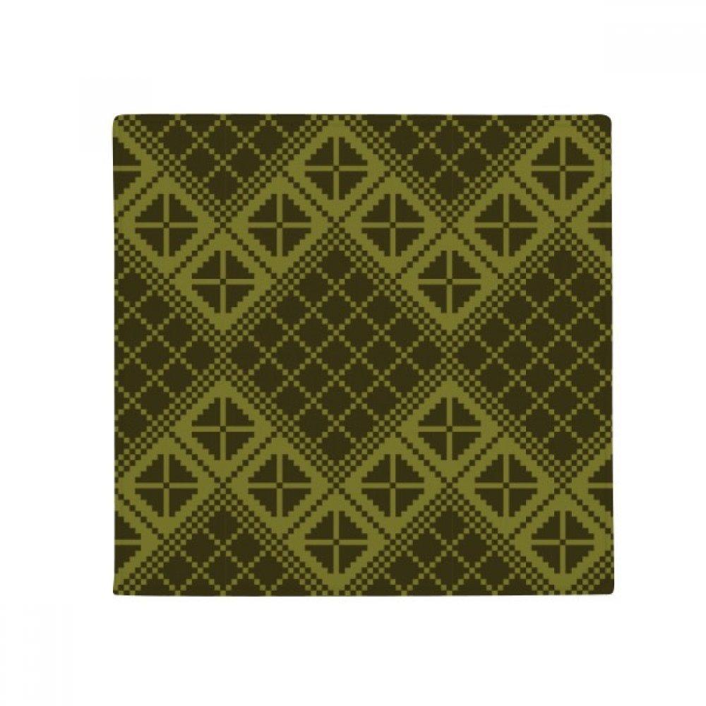 DIYthinker Green Rhombus Triangle Illustration Pattern Anti-Slip Floor Pet Mat Square Home Kitchen Door 80Cm Gift