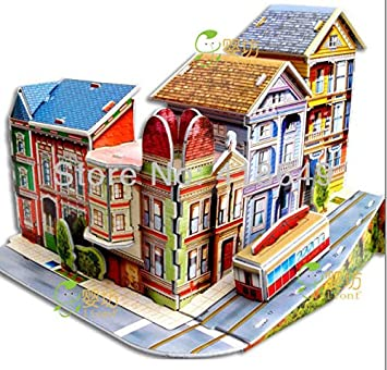 cute diy handmade dream house 3d dollhouse house model hands on brain puzzle good gifts - Dream House Model