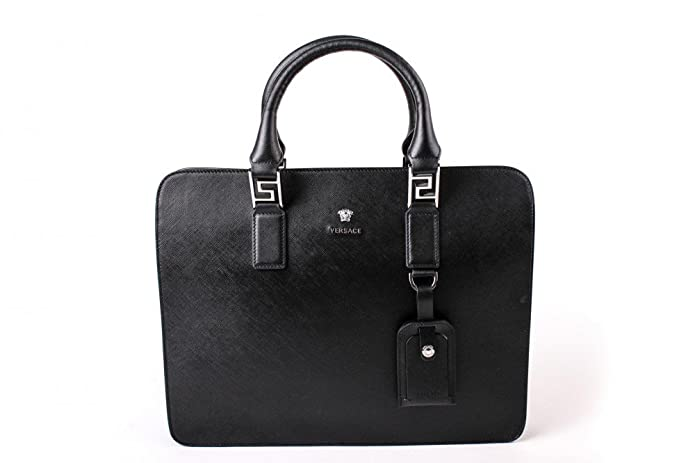 Versace Briefcase DL15099DVSAN Business, Size one-size Color Black    Silver  Amazon.co.uk  Shoes   Bags eaa1823fd7