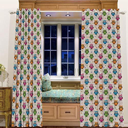 iPrint Room Darkening Thermal Blackout Grommet Window Curtain for Living Room,58