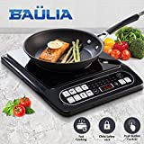 Baulia SB817 Induction Cooker Single 1500-Watt Countertop Burner for Fast Cooking, Precise Digital Temperature Control + 4 Hour Timer, Black