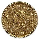 1855 $50 Wass Molitor California Gold Rush AU-53