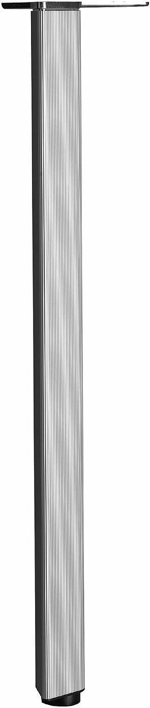 Richelieu Hardware - 63271010 - Box of 4 - Height: 700 mm (27-1/2'') - Teardrop Design Table Leg - 632 - 1.08 mm (27.5 Inches ) - Aluminum Finish