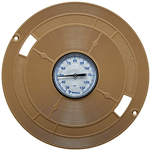 Pentair L1B Almond 9-7/8-Inch Lid with Thermometers Replacement Pool and Spa ()