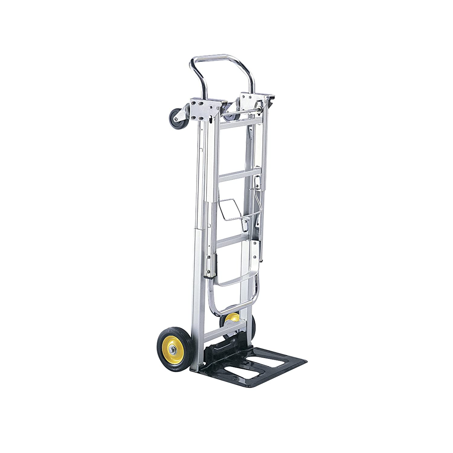 Safco Products Hide Away Convertible Hand Truck 4050 Dual Function 400 lbs. Total Capacity Aluminum Frame