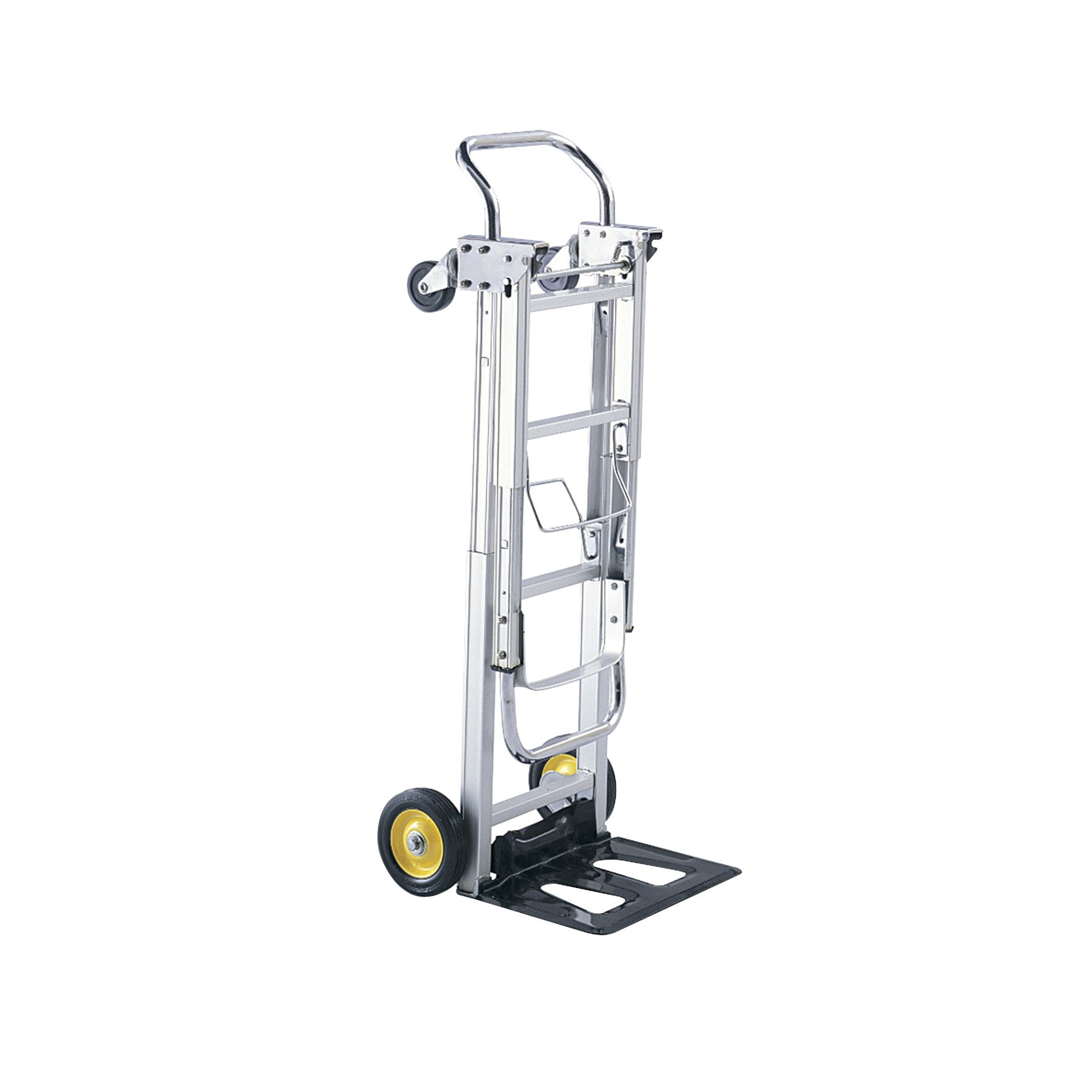 Safco Products Hide-Away Convertible Hand Truck 4050, Dual Function, 400 lbs. Total Capacity, Aluminum Frame by Safco Products