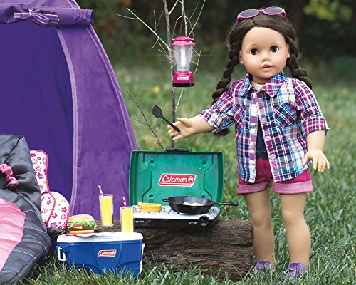 sophias green coleman   doll camping stove food set  frying pan perfect