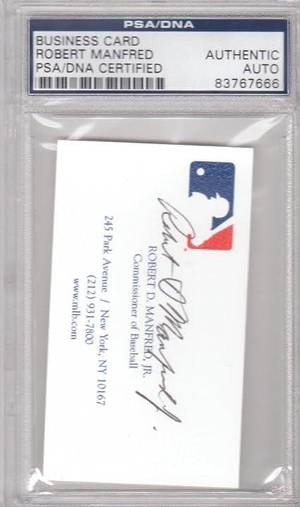 Robert manfred commissioner of baseball business card signed robert manfred commissioner of baseball business card signed autograph psadna certified baseball colourmoves Choice Image