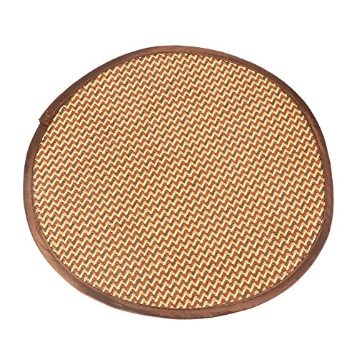 Filfeel Pet Mat, Breathable Bamboo Summer Round Dog Sleeping Comfortable Cooling Cushion(S)