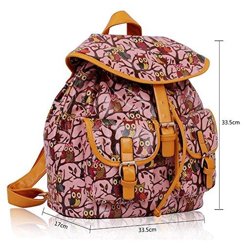 TrendStar - Bolso mochila  para mujer rojo E - Red E - Pink