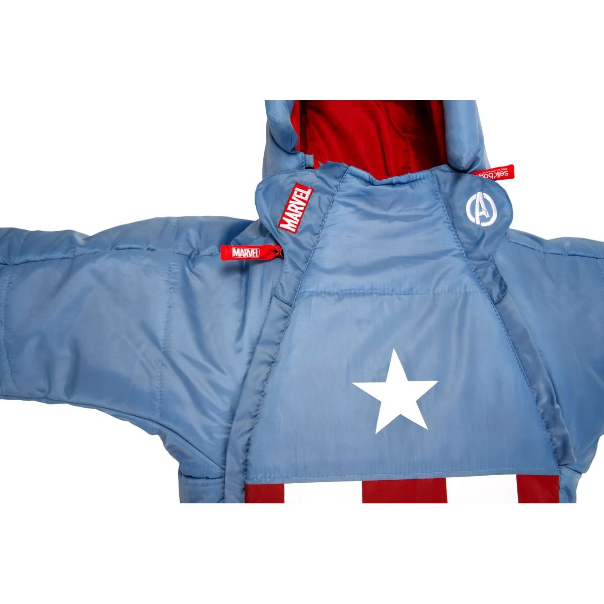 SELKBAG Saco de dormir Modelo KIDS CAPITÁN AMÉRICA,Talla S: Amazon.es: Deportes y aire libre