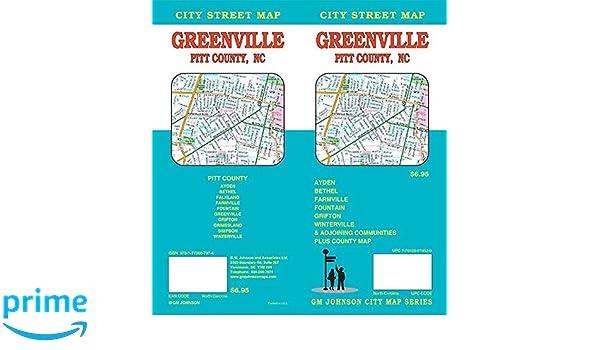Greenville Pitt County North Carolina Street Map Gm Johnson