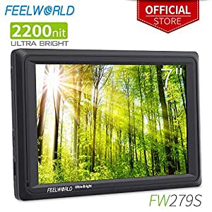 FEELWORLD FW279S 7 Inch Ultra Bright 2200nit DSLR Camera Field Monitor Daylight Viewable High Brightness Full HD 1920x1200 3G SDI 4K HDMI Input Output