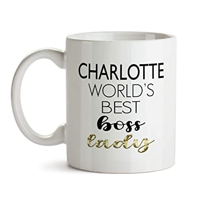 Amazon Charlotte Worlds Best Boss Lady Gift Mug