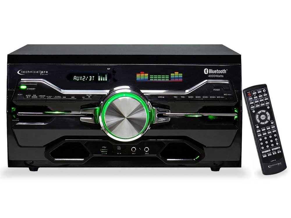 Technical Pro 4000w Karaoke Receiver/Amplifier/DVD/CD-G Player, Bluetooth/USB/FM