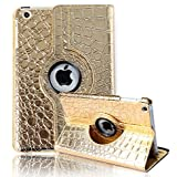 HDE iPad Mini iPad Mini 2/3 Cases and Covers [Auto Sleep/Wake] 360 Rotating Stand for iPad Mini 1/2/3 Retina (...