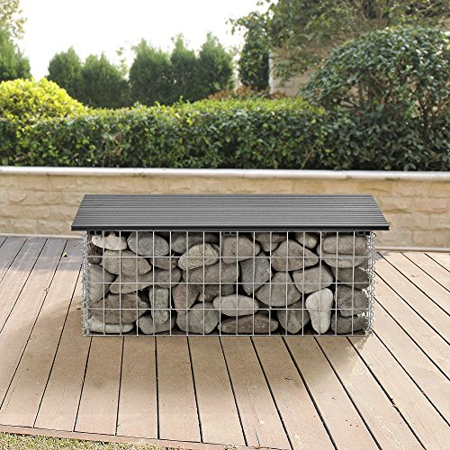Pro Tec Wpc Gabion Bench Seat Stone Basket Wire Netting