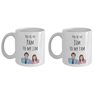 Jim to my Pam Couples Mug Gift for Her Gift for Him Tea Cup Valentines Day Present