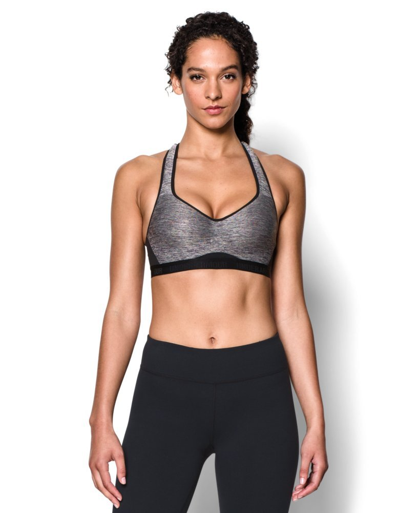 Under Armour Women's Armour High Bra, Carbon Heather (090)/Black, 32A by Under Armour (Image #1)