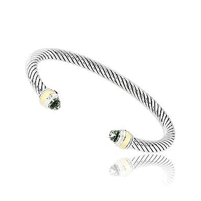 0c47b0f5779f8 David Yurman Cable Classic Prasiolite   Gold Bracelet B12381S4ABO   Amazon.co.uk  Jewellery