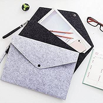 Filing Products Chemical Felt Elastic Closure Folder File Bag A4 Big Capacity Document Folders Business Briefcase Filing Products White For Fast Shipping Office & School Supplies