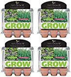 Buzzy 94676 6 Pot Assorted Herb Mini Greenhouse Grow Kit - Quantity 4