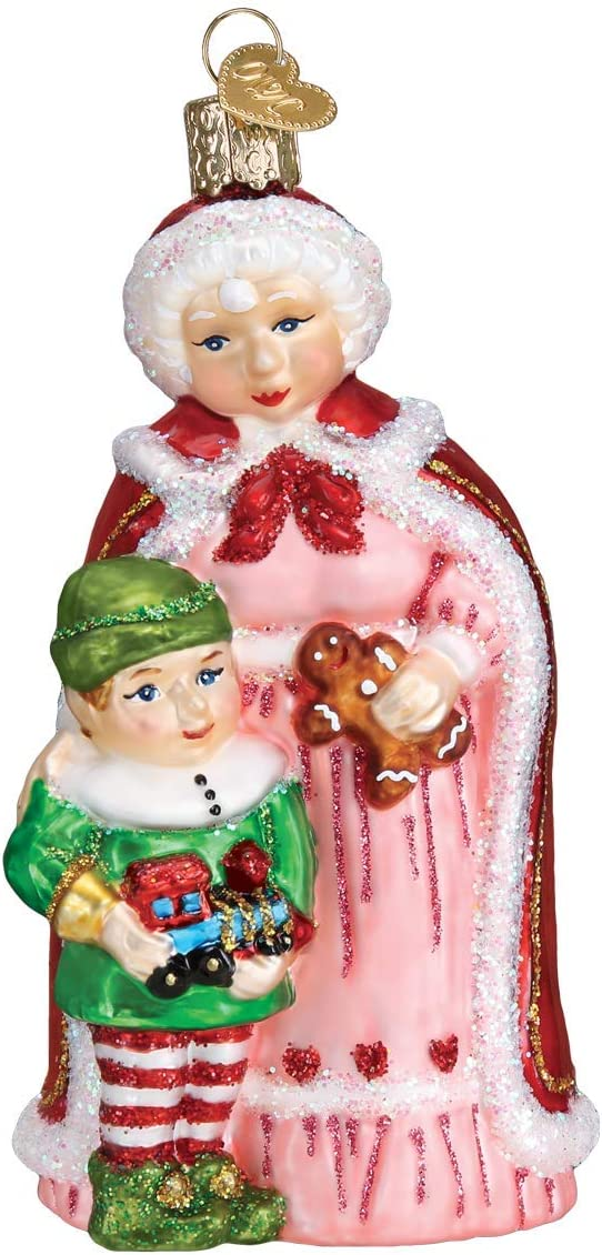Old World Christmas Mrs. Claus w/Elf