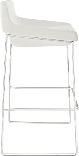 Modway Garner Retro Modern Upholstered Fabric Four Bar Stool