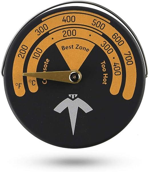 VODA Term/ómetro magn/ético para estufa de le/ña indicador de temperatura