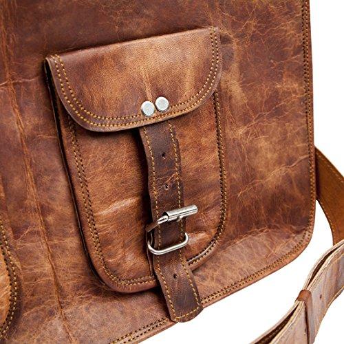 Vintage Leather Messenger Laptop Gym Bag