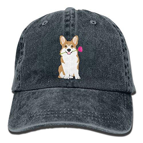 - Cute Corgi Adult Sport Adjustable Baseball Cap Cowboy Hat
