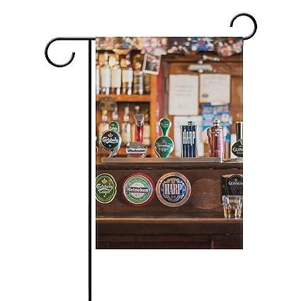 amazon com fajro bar counter cool beer flag yard decor garden flag
