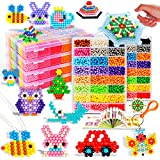 Water Sticky Beads,Fuse Beads fusion Jewelry Making Building Blocks Creative Educational Building Water Sticky Beads Water Magic Bean with Whole Set Accessories 15 Fun Color (3750 Grain)