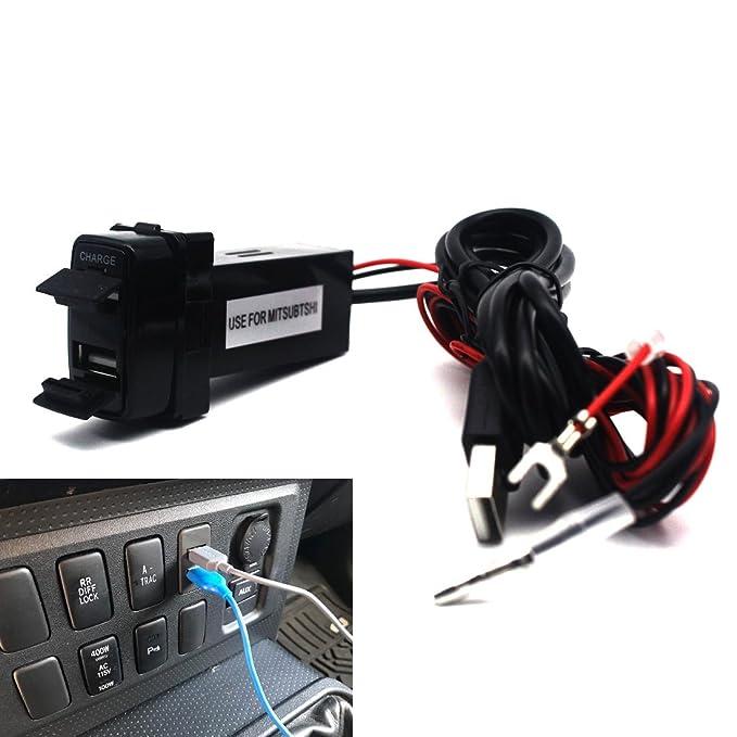 Doble puerto USB cargador de coche con toma de audio para ...