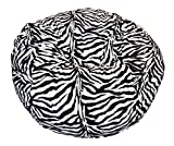 Ahh! Products Zebra Animal Print Fur Washable Large Bean Bag Chair