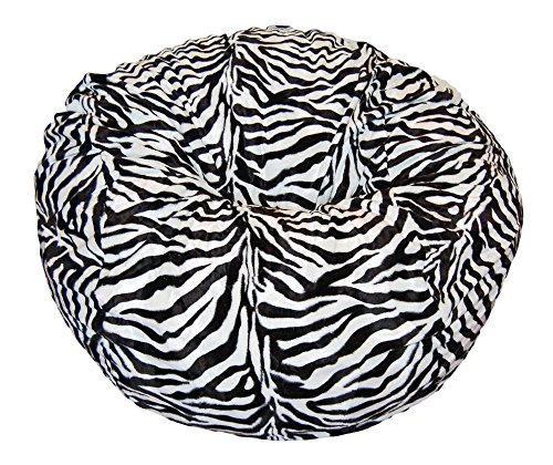 Ahh! Products Zebra Animal Print Fur Washable Large Bean Bag Chair by Ahh! Products