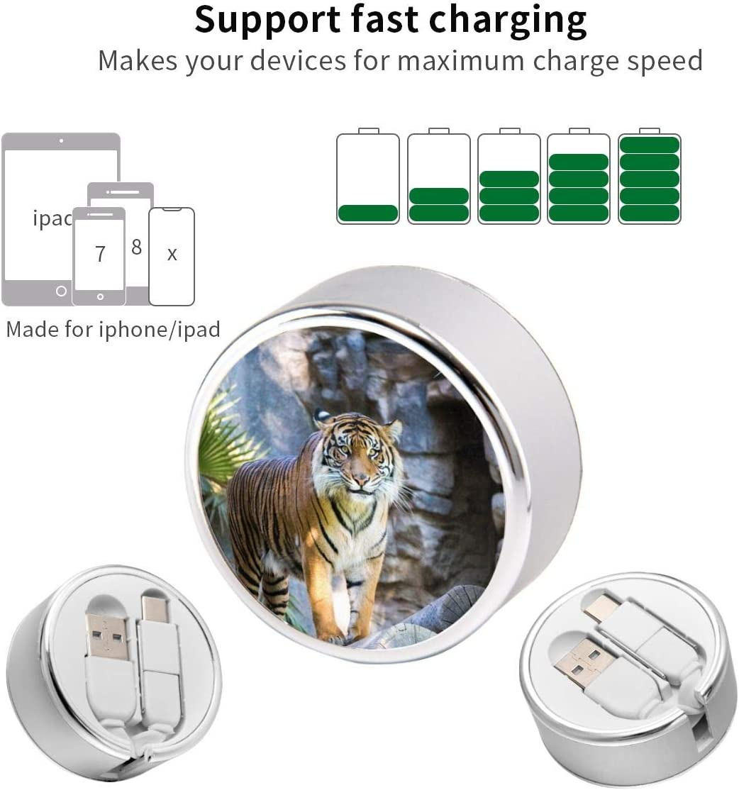 Round USB Data Cable Charging Cable Can Be Charged and Data Transmission Synchronous Fast Charging Cable-Rick-L